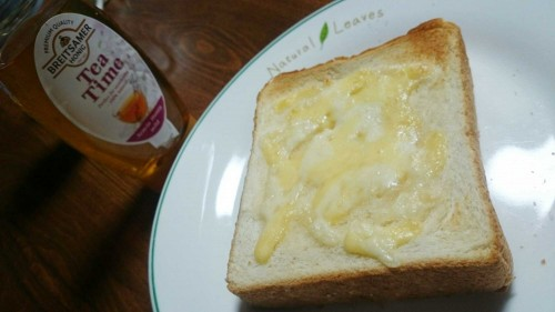 食パンアレンジハニーチーズ